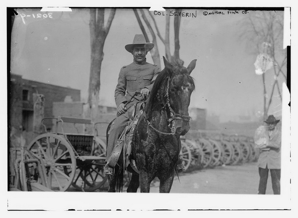 Colonel mounted on his horse
